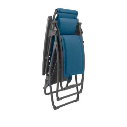 "Lafuma Relaxsessel ""Futura"" mit Bezug Padded Polycotton Farbe Jeans8550, Gestellfarbe basalt, zusammengeklappt"