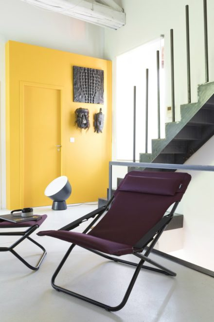 "Liegestuhl ""Transabed Air Comfort"" von Lafuma, Modell LFM2459 in der Farbe Bordeaux3186 (© Pierrick Verny)"