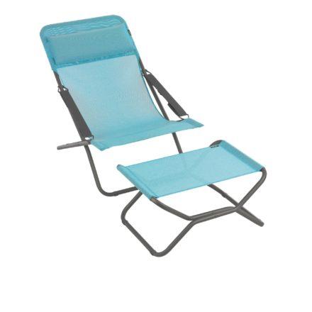 """Liegestuhl """"Transabed"""" und Fußauflage """"Next"""" von Lafuma in der Farbe Lac8553"""