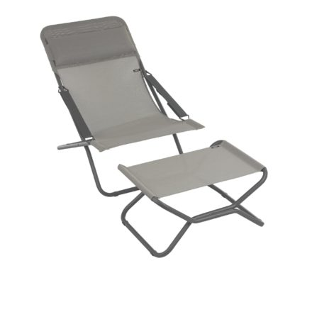 """Liegestuhl """"Transabed"""" und Fußauflage """"Next"""" von Lafuma in der Farbe Terre8556"""