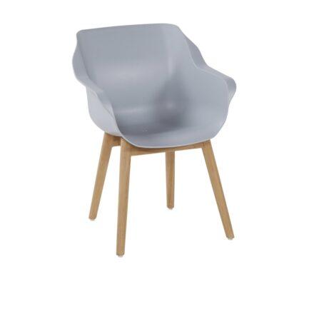 "Hartman ""Sophie Teak"" Armchair, Gestell Teakholz, Sitzfläche Kunststoff misty grey"