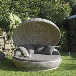 "SonnenPartner Lounge-Insel ""Oyster"", Aluminiumgestell beflochten mit Kunststoffgeflecht in white-coral"