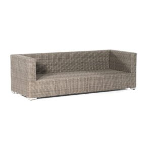 "SonnenPartner 3-Sitzer Loungesofa ""Residence"", Gestell Aluminium, Polyrattan stone-grey"