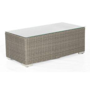 """SonnenPartner Beistelltisch groß """"Residence"""", Gestell Aluminium, Polyrattan stone-grey, Größe: 120x60 cm"""