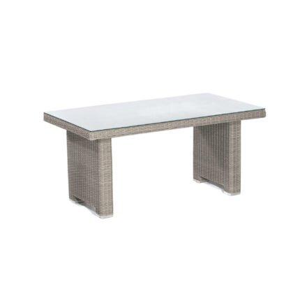 "SonnenPartner Dining-Tisch ""Residence"", Gestell: Aluminium, Polyrattan stone-grey"