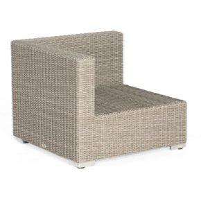 "SonnenPartner Lounge Eckteil ""Residence"", Gestell Aluminium, Polyrattan stone-grey"
