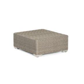 "SonnenPartner Loungehocker ""Residence"", Gestell Aluminium, Polyrattan stone-grey"