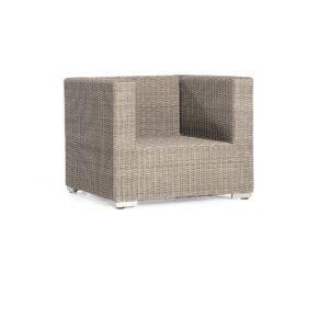 "SonnenPartner Loungesessel ""Residence"", Gestell Aluminium, Polyrattan stone-grey"