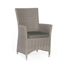"SonnenPartner Sessel ""Ikarus"", Polyrattan stone-grey, Kissen grau"