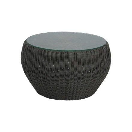 """Stern Beistelltisch/Hocker """"Anny"""", Gestell Aluminium, Geflecht basaltgrau, inkl. Glasplatte"""