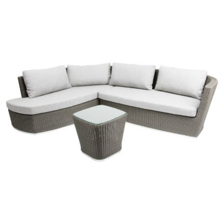 "Stern Lounge-Set ""Juno"", Gestell Aluminium, Geflecht Polyrattan basaltgrau"