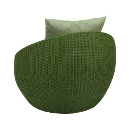 """Stern Loungesessel """"Anny"""", Gestell Aluminium, Geflecht grün, Kissen farngrün"""