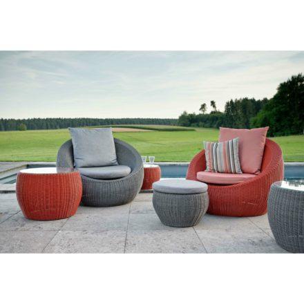 "Stern Loungesessel ""Anny"", Gestell Aluminium, Sitzfläche Geflecht, Kissen 100% Polyacryl"