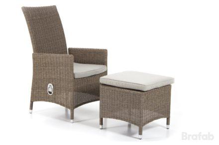 """Brafab """"Ninja"""" Relaxsessel, Gestell Aluminium beige, Sitz- und Rückenfläche Polyrattan beige"""