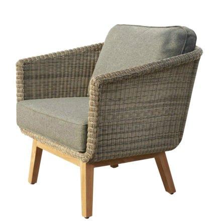 """Brafab """"Boxford"""" Sessel, Gestell Teakholz, Sitz-und Rückenfläche Polyrattan beige, Sitz- und Rückenkissen Olefin taupe"""