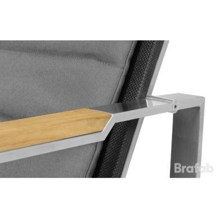 """Brafab """"Gotland"""" Loungesessel, Gestell Edelstahl, Sitz-und Rückenfläche Textilgewebe schwarz"""