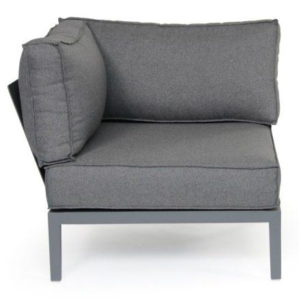 "Brafab Eckteil ""Mackenzie"", Gestell Aluminium grau matt, Kissenbezug grau, 100% Polyester"