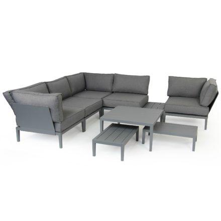 """Brafab """"Mackenzie"""" Beistelltisch, Gestell Aluminium grau matt, Tischplatte Aluminium grau matt"""