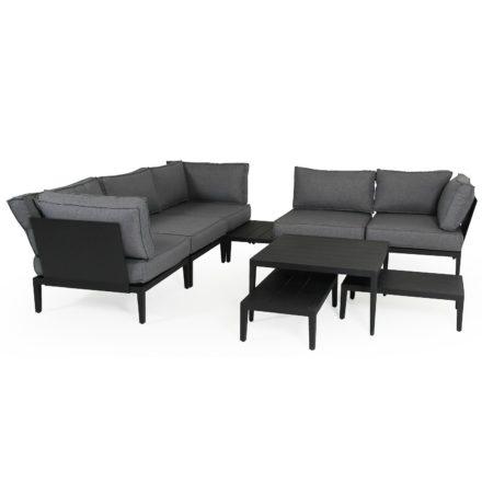 """Brafab """"Mackenzie"""" Beistelltisch, Gestell Aluminium schwarz matt, Tischplatte Aluminium schwarz matt"""