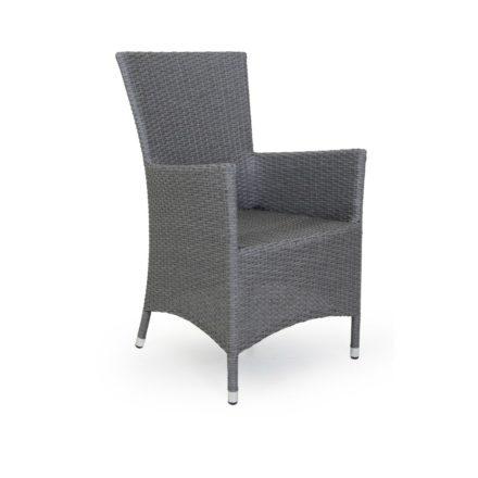 "Brafab ""Ninja"" Diningsessel, Gestell Aluminium grau, Sitz- und Rückenfläche Polyrattan grau"