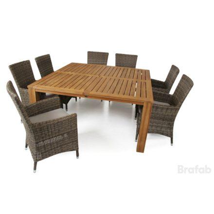 "Brafab ""Ninja"" Diningsessel, Gestell Aluminium rustikal, Sitz- und Rückenfläche Polyrattan rustikal"