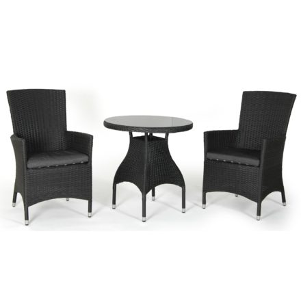 "Brafab ""Ninja"" Diningsessel, Gestell Aluminium schwarz, Sitz- und Rückenfläche Polyrattan schwarz"