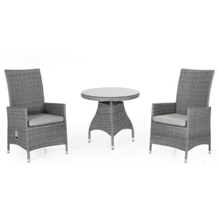 "Brafab ""Ninja"" Relaxsessel, Gestell Aluminium grau, Sitz- und Rückenfläche Polyrattan grau"