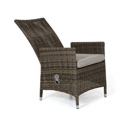 "Brafab ""Ninja"" Relaxsessel, Gestell Aluminium rustikal, Sitz- und Rückenfläche Polyrattan rustikal"