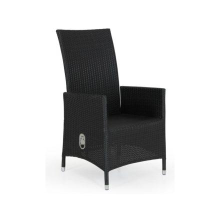 """Brafab """"Ninja"""" Relaxsessel, Gestell Aluminium schwarz, Sitz- und Rückenfläche Polyrattan schwarz"""