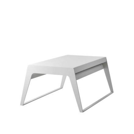 """Cane-line Couchtisch """"Chill-Out"""", aufklappbar, aus weißem Aluminium"""