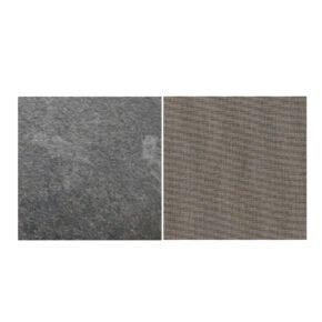 Fischer Möbel fm-laminat Spezial Graphito - Stoff Sunbrella Natte weatherproof Carbon Beige 10065W