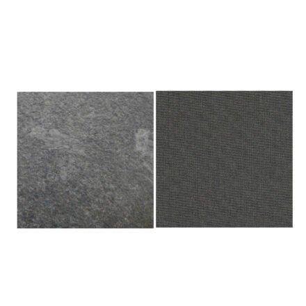Fischer Möbel fm-laminat Spezial Graphito - Stoff Sunbrella Natte weatherproof Dark Taupe 10059W
