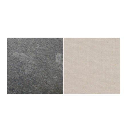 Fischer Möbel fm-laminat Spezial Graphito - Stoff Sunbrella Natte weatherproof Linen Chalk 10151W