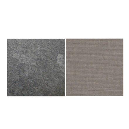 Fischer Möbel fm-laminat Spezial Graphito - Stoff Sunbrella Natte weatherproof Nature Grey 10040W