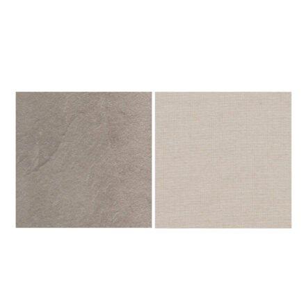 Fischer Möbel fm-laminat Spezial Sabbia - Stoff Sunbrella Natte weatherproof Linen Chalk 10151W