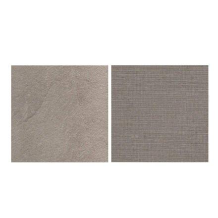 Fischer Möbel fm-laminat Spezial Sabbia - Stoff Sunbrella Natte weatherproof Nature Grey 10040W