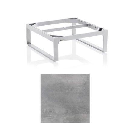 """Kettler """"Ego"""" Loungetisch 95x95 cm, Tischplatte HPL silber-grau"""