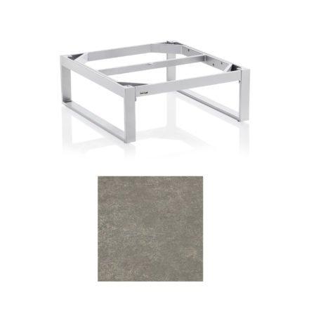 """Kettler """"Ego"""" Loungetisch 95x95 cm, Tischplatte Keramik grau-taupe"""