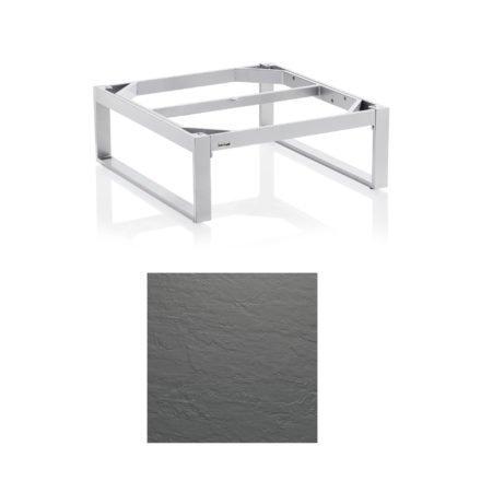 """Kettler """"Ego"""" Loungetisch 95x95 cm, Tischplatte Kettalux Plus anthrazit-grau"""