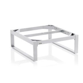 """Kettler """"Ocean"""" Lounge-Tischgestell, Aluminium silber, 95x95 cm"""