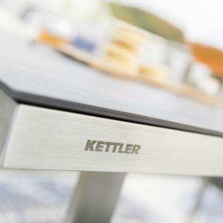 "Kettler ""Skate"" Gartentisch, Edelstahlgestell, Tischplatte Keramik anthrazit"