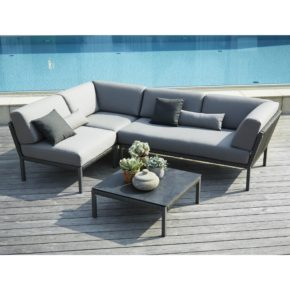 "Solpuri ""Club"" Loungeserie, Aluminium und String Flex anthrazit"