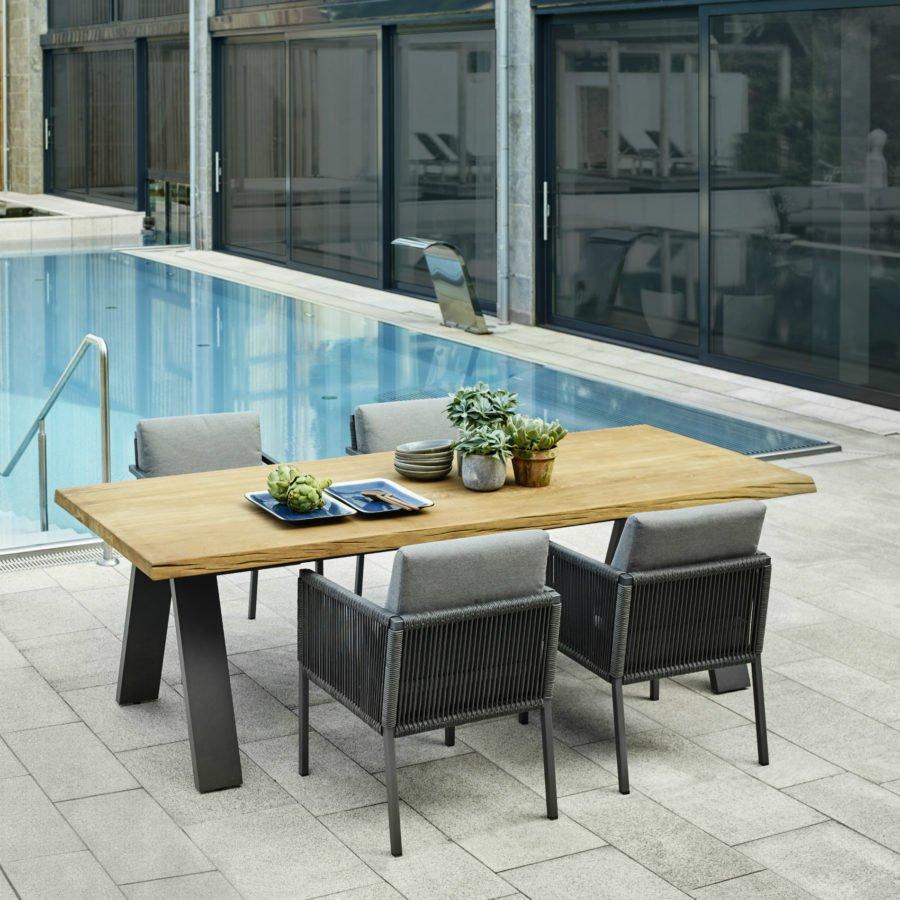 solpuri gartenm bel set mit sessel club und tisch timber. Black Bedroom Furniture Sets. Home Design Ideas