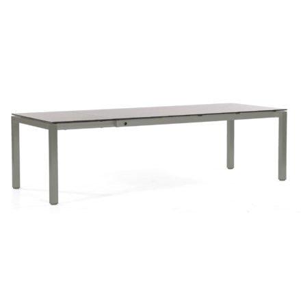 "SonnenPartner Ausziehtisch ""Base"" 200/260x100 cm, Gestell Aluminium anthrazit, Platte HPL Beton hell"