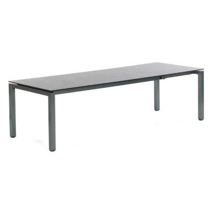 """SonnenPartner Ausziehtisch """"Base"""" 200/260x100 cm ausgezogen, Gestell Aluminium anthrazit, Platte HPL Vintageoptik"""