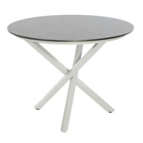 "SonnenPartner Tisch ""Base-Spectra"", Gestell Aluminium silber, Platte HPL Keramikoptik, Durchmesser 100 cm"