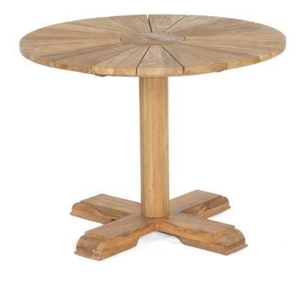 """SonnenPartner Gartentisch """"Solis"""", Gestell und Tischplatte Old Teak, 100 cm"""