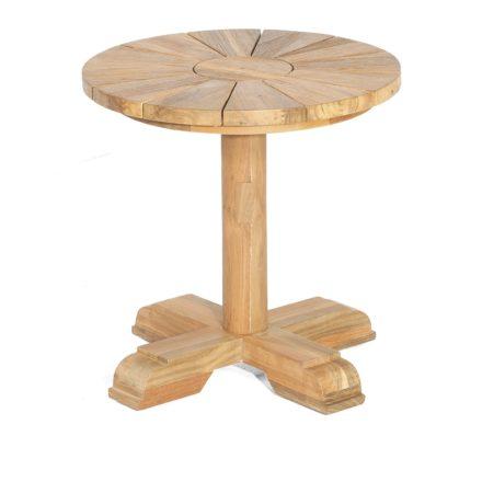 """SonnenPartner Gartentisch """"Solis"""", Gestell und Tischplatte Old Teak, 50 cm"""