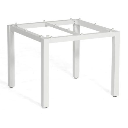 "SonnenPartner Tischgestell ""Base"" 90x90 cm, Aluminium weiß"