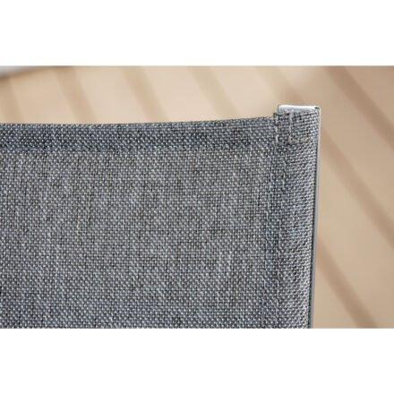 Rollenliege Allround von Stern, Gestell in graphit, Textilgewebe in Leinen grau